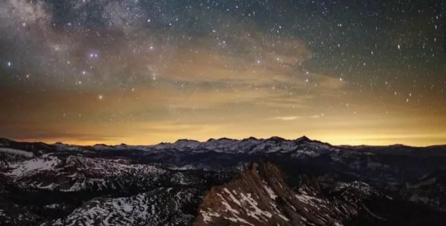 ciel étoilé Yosemite national parc