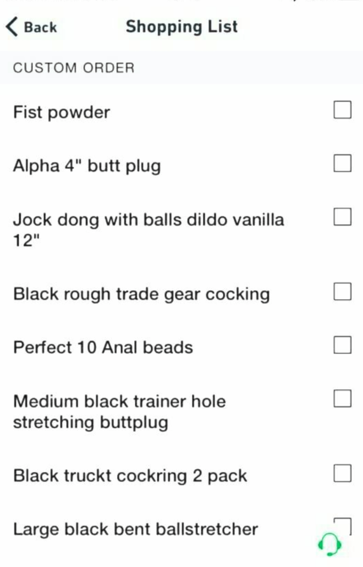 Postmates for sex toys