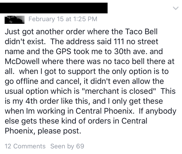 Postmates taco bell
