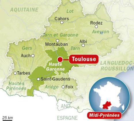 zone cours à domicile Toulouse