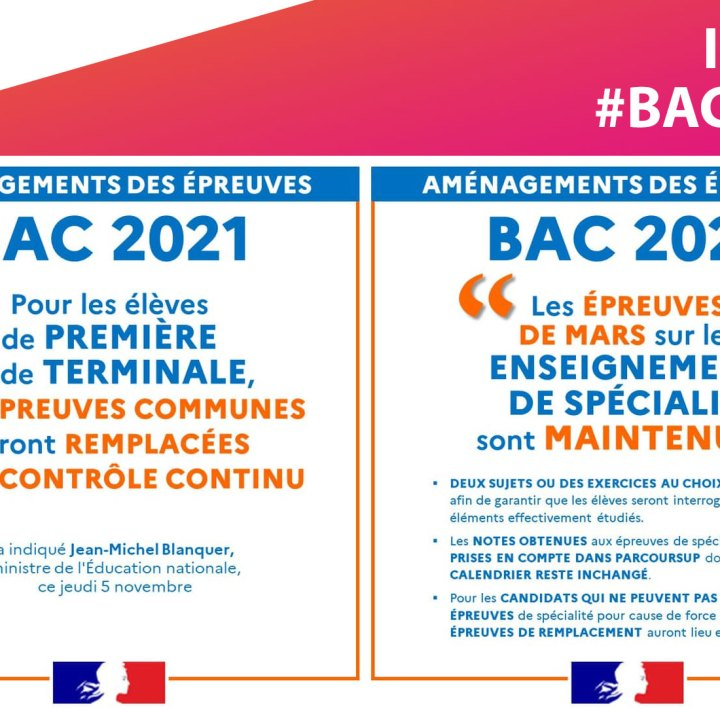 BAC 2021 : Les 3 épreuves d'évaluation communes remplacées au profit du contrôle continu
