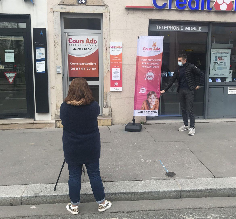 Entrée bureau cours particuliers Lyon