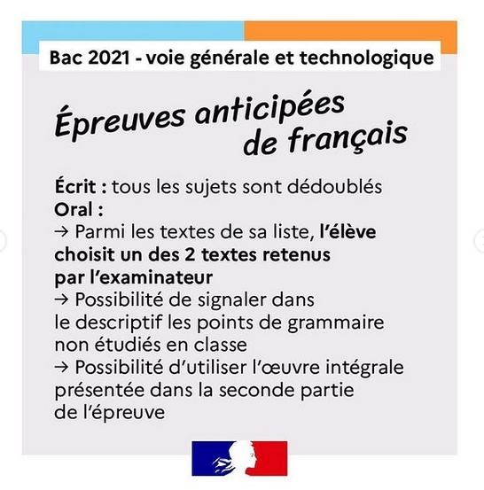 Français Bac 2021