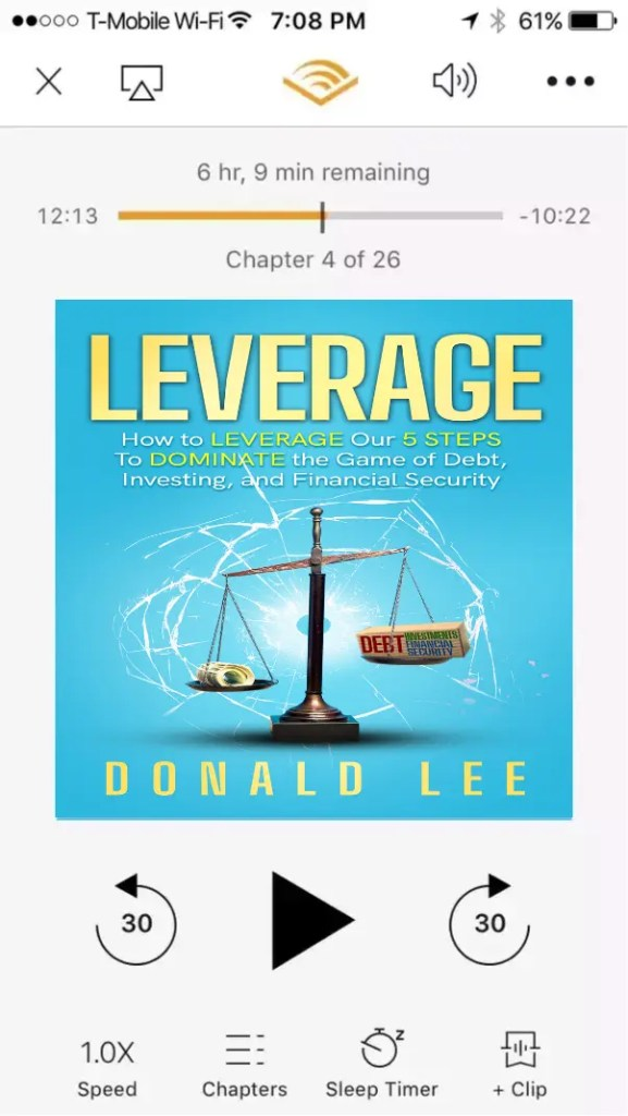 Leverage Audible App Cover