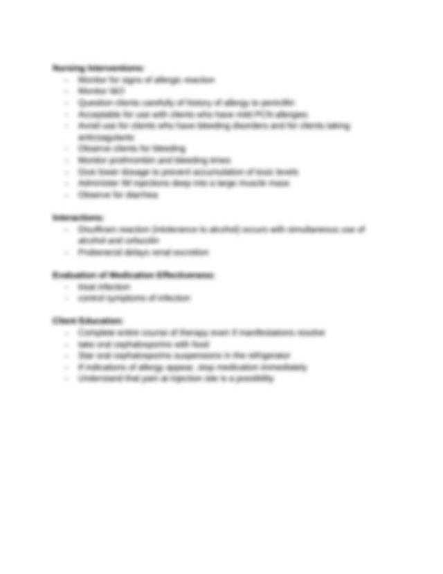Ati Medication Template Cefazolin