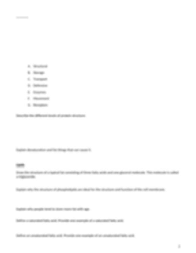 Macromolecules Worksheet Cx