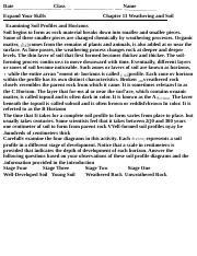 Soil Horizons Worksheet 2 1 Name Class Date Chapter 13