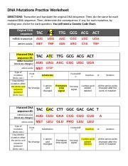 Dna Mutations Practice Worksheet Key 1v9laqc Doc Dna