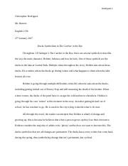 catcher in the rye symbolism essay