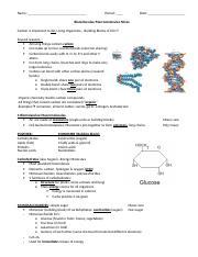 Biomolecules Chartcx