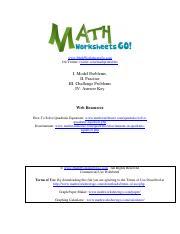 Parent Function Worksheet 1