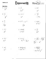 Homework 9 1 Rational Exponents Answers