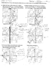 Dilation Worksheet With Answer Key