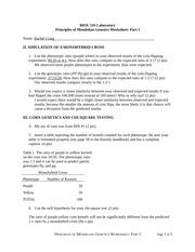 Mendelian Genetics Study Resources
