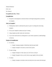 Exemplification Essay Topics