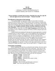 fetal pig 1 - BI 102 Human Biology Laboratory Exercise ...