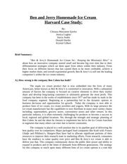 5 Pages Ben And Jerry S Harvard Case 2