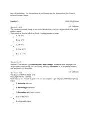 Week 4 Worksheet The Interactions Of The Oceans And The
