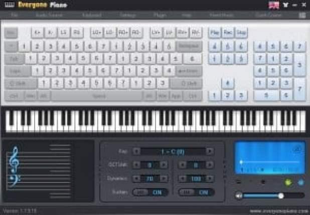 برنامج Everyone Piano لتحويل لوحة المفاتيح الى بيانو1