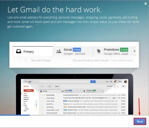 إنشاء حساب جيميل Gmail جديد من الكمبيوتر 5