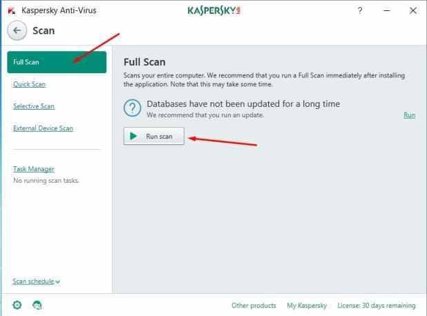 تحميل Kaspersky مكافح الفيروسات