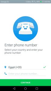 تحميل تطبيق من المتصل