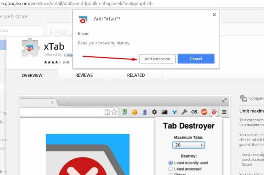 التخلص من إعلانات النوافذ المنبثقة علي جوجل كروم من خلال Xtab