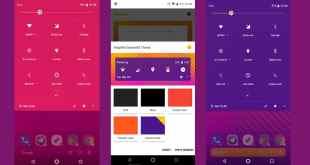 شرح وتحميل تطبيق Pluvius لتغيير ألوان نظام الهاتف ليتوافق مع خلفية الهاتف