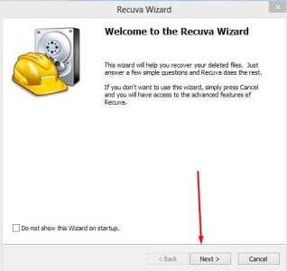 برنامج recuva لاستعادة الملفات