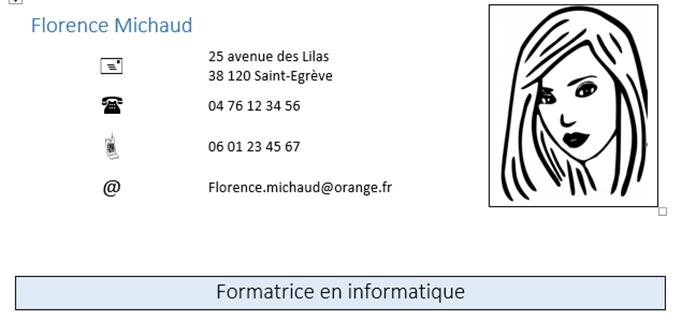 Rediger Un Cv Avec Word Coursinfo Fr