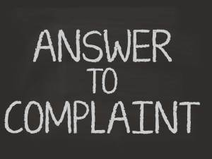 answer to complaint