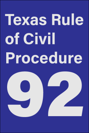 texas answer to counterclaim