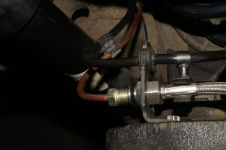 Upper Bracket with Joiner Pipe Fitted