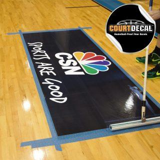 COURT DECAL - BASKETBALL PROOF FLOOR DECALS