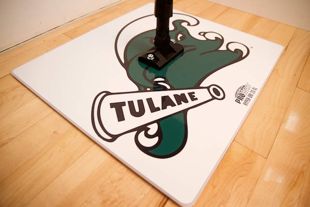 TULANE PROMOP HYPER-DRI 20XL SQUARE BASKETBALL / VOLLEYBALL SWEAT MOP - CUSTOMIZED WITH TEAM LOGO AND COLORS
