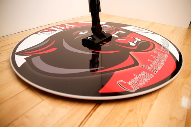 PROMOP HYPER-DRI 22 ROUND BASKETBALL / VOLLEYBALL SWEAT MOP - WITH CUSTOM LOGO AND TEAM COLORS