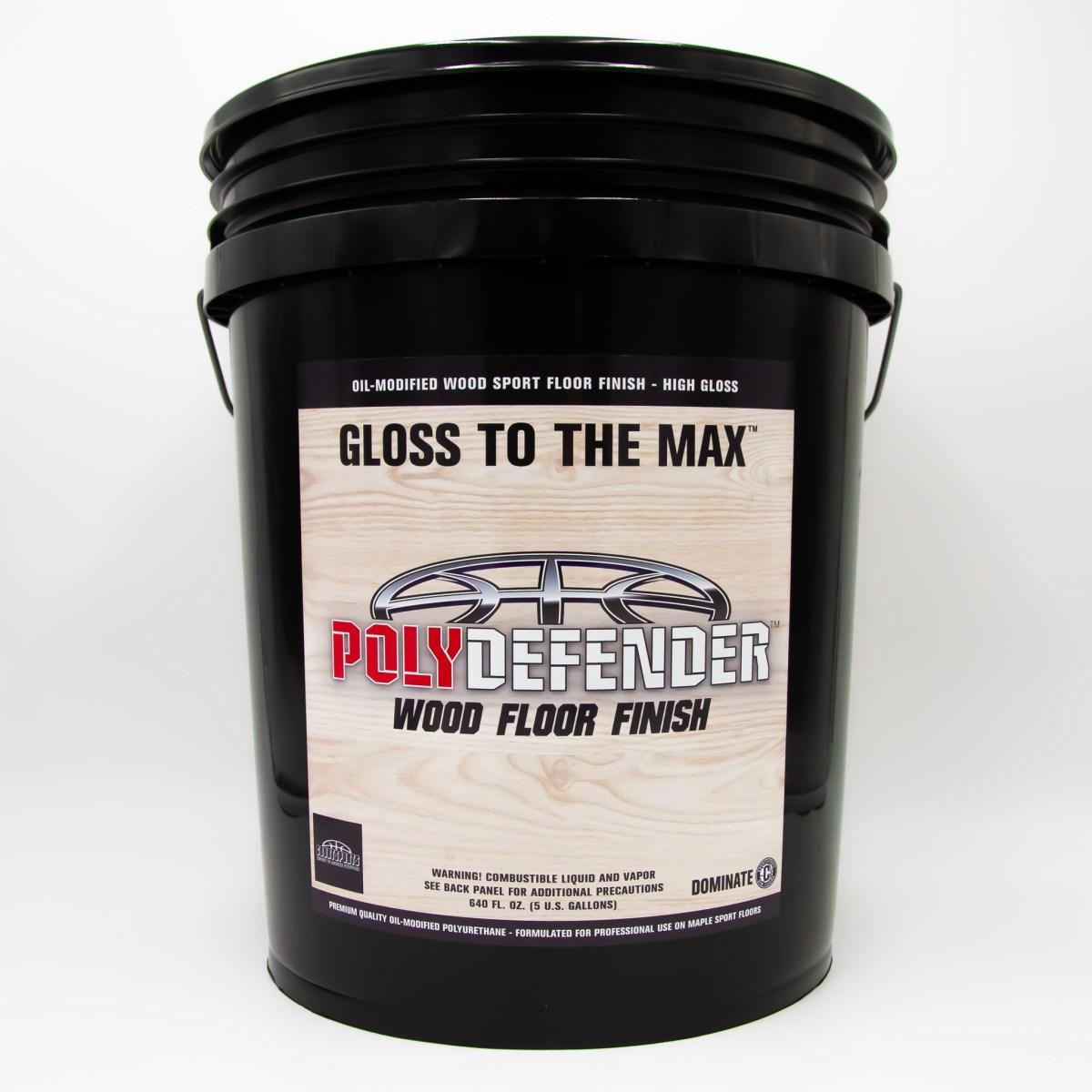 POLYDEFENDER WOOD FLOOR FINISH - OIL-MODIFIED POLYURETHANE FLOOR FINISH FORMULATED FOR MAPLE SPORT FLOORS - HIGH GLOSS