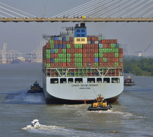 Largest Cargo Ship Ever to Call on US East Coast Arrives in