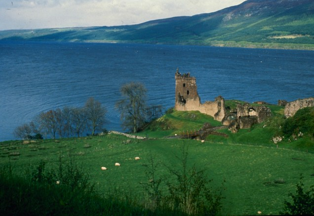 Scotland's 23-mile long Loch Ness, home of the elusive monster, Nessie. In foreground is Urquhart Castle. For hundreds of years, visitors to Scotland's Loch Ness have described seeing a monster that some believe lives in the depths. (AP Photo, File)