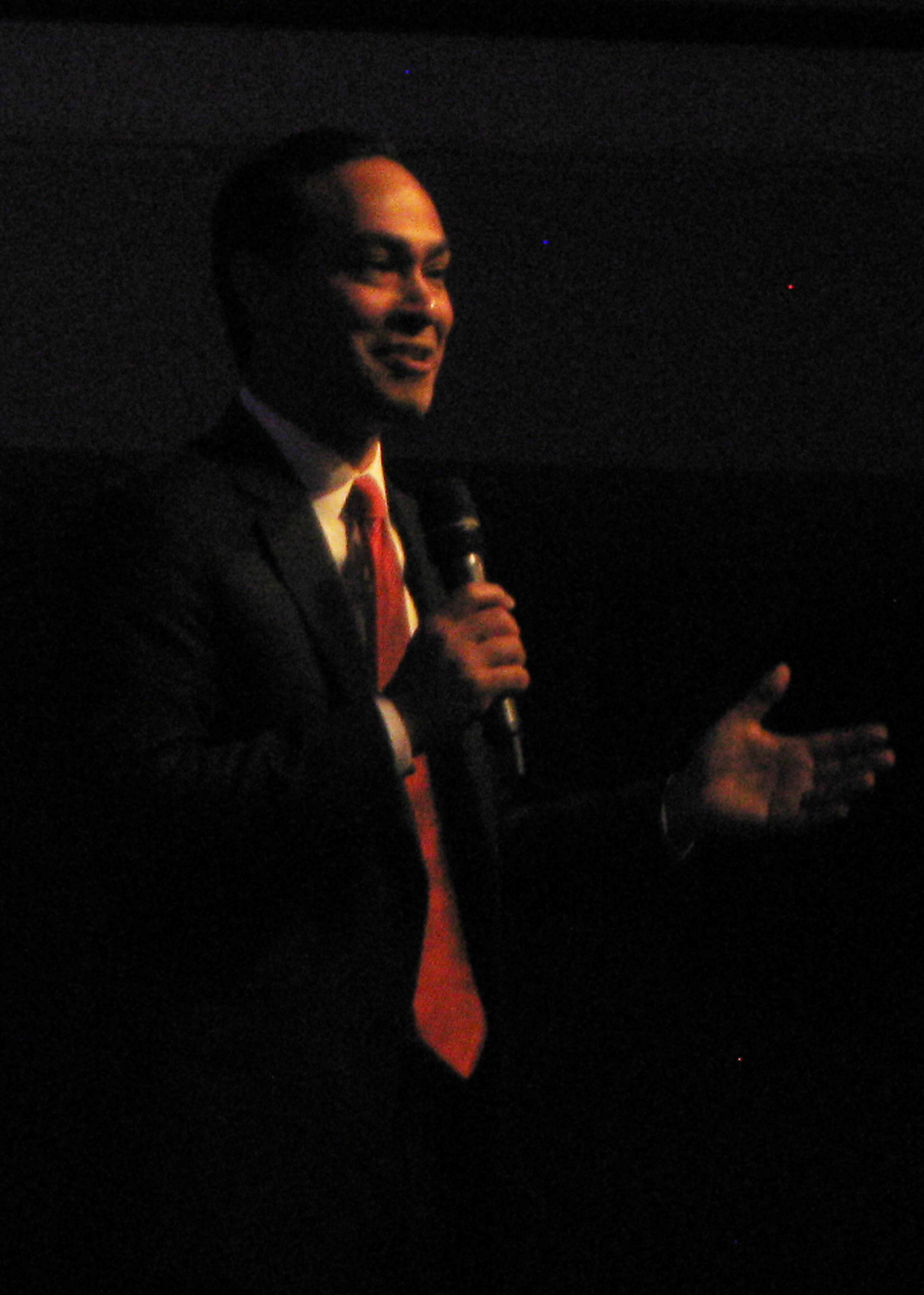Julián Castro at a campaign stop at St  John's United Methodist