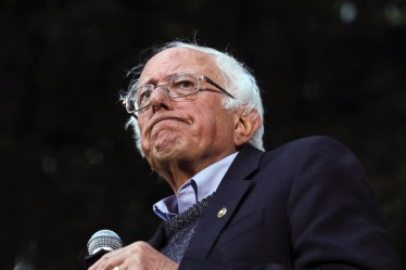 Sen. Bernie Sanders, I-Vt., pauses while speaking at a campaign event on Sept. 29, 2019, at Dartmouth College in Hanover, N.H. (AP Photo/ Cheryl Senter)
