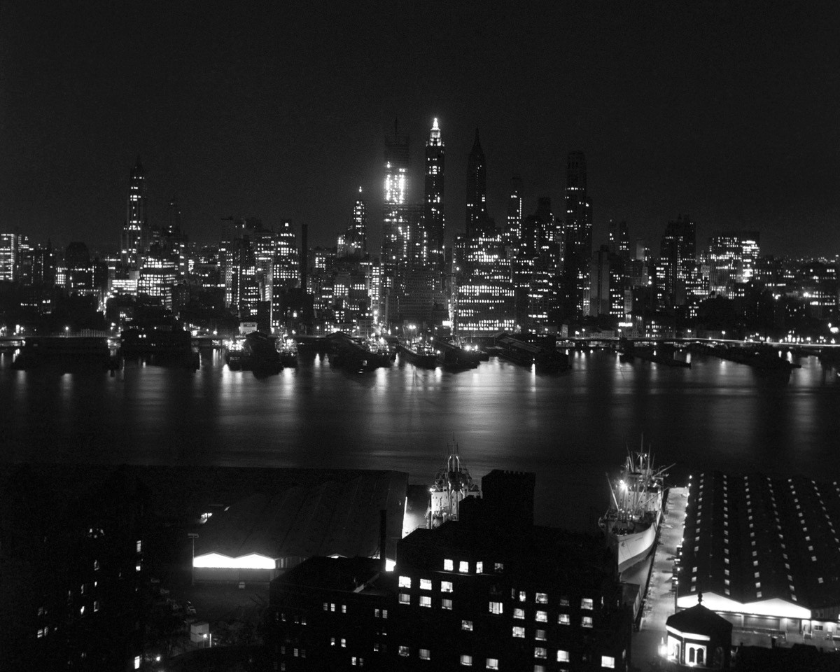 New York City skyline, circa 1960 (Walt Girdner photo)