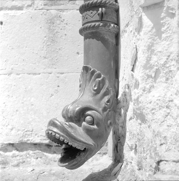 Decorative rain spout, 1965, Senegal, from the Africa collection.