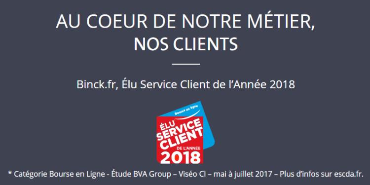 binck service client année