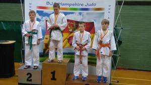 Jack Rogerson on medal podium
