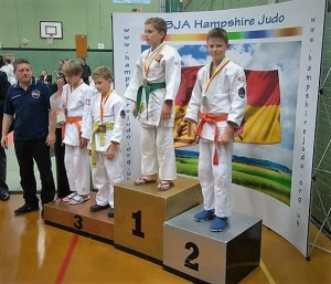 Jack on medal podium