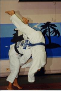 Kate Howey MBE, 1997 World Champion, throws Tony (1999)
