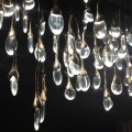 LED tear drop Light, LED chandelier, LED interior design, ochre