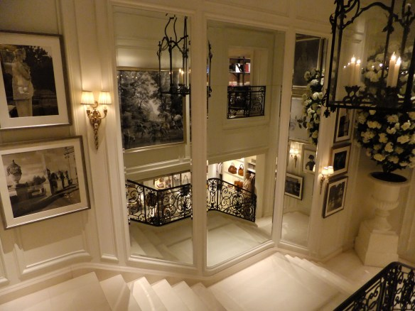 Ralph Lauren NYC Mirrored Stairwell, as seen on www.CourtneyPrice.com
