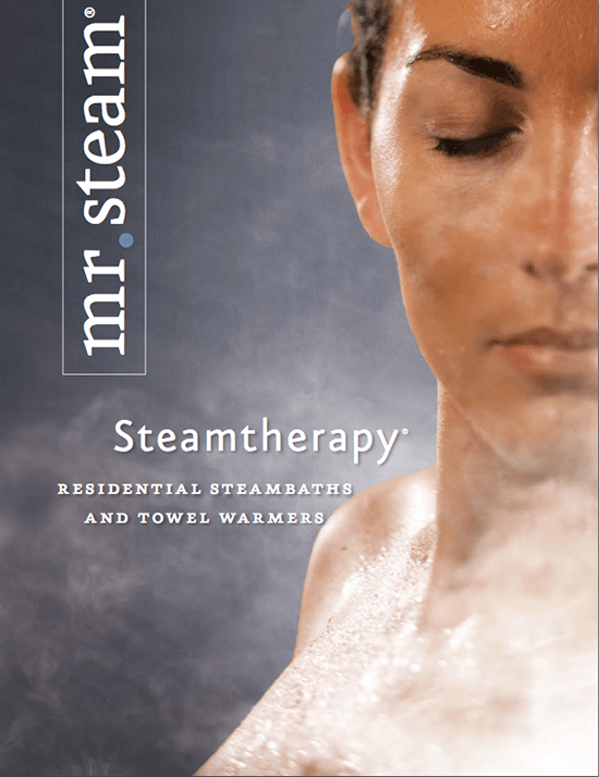 Mr Steam, Steamtherapy showers, woman in shower